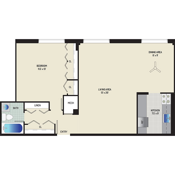 Wayne Manchester Towers Apartments - Apartment 460075-W613-C2