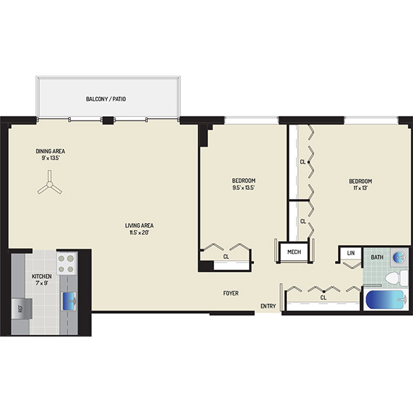 Wayne Manchester Towers Apartments - Apartment 460075-W801-H1
