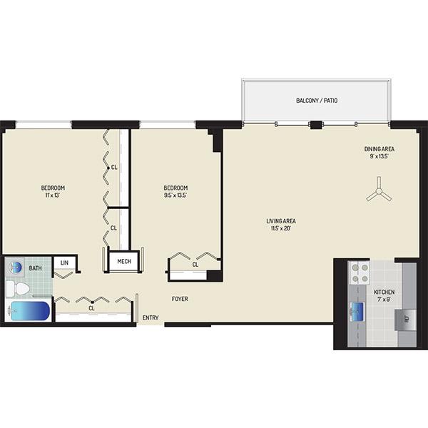 Wayne Manchester Towers Apartments - Apartment 460025-M402-H2