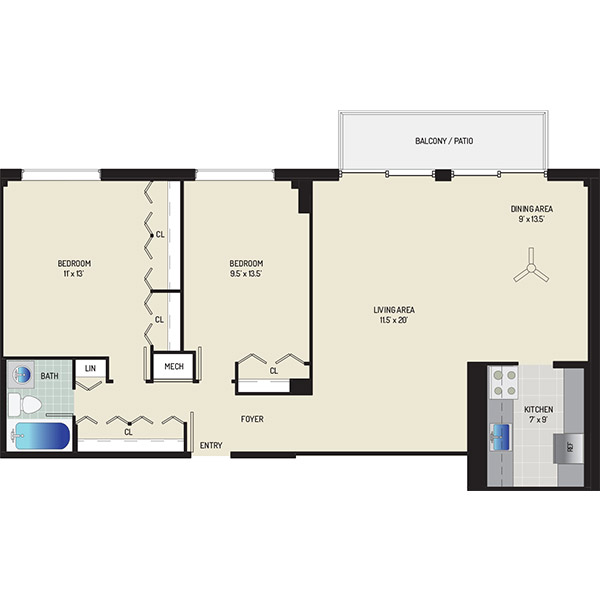 Wayne Manchester Towers Apartments - Apartment 460025-M702-H2