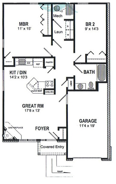 Floorplan - Townhouse Ranch image