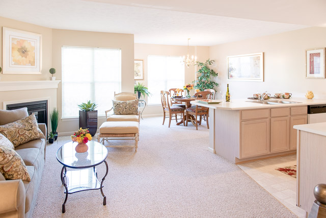 Spacious Living Areas at Webster Woods Apartments in Webster, New York