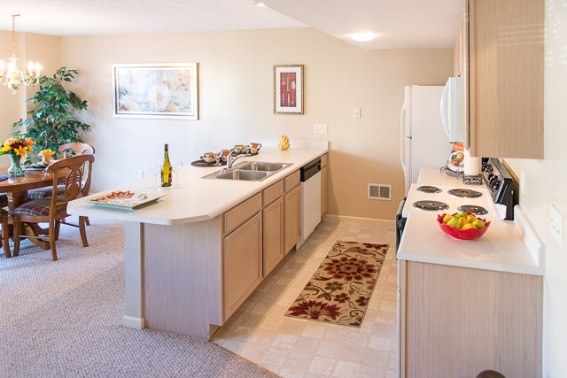 Modern Kitchens at Webster Woods Apartments in Webster, New York