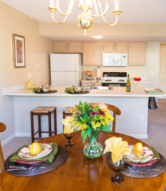Eat-In Kitchen at Webster Woods Apartments in Webster, New York