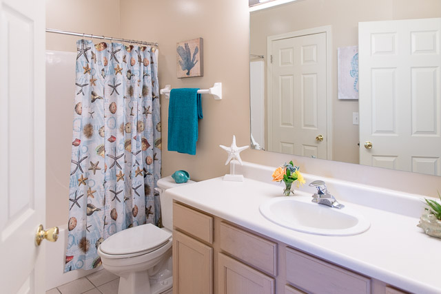 Shower and Bathtub Combination at Webster Woods Apartments in Webster, New York