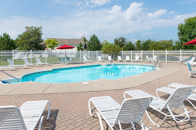 Sparkling Swimming Pool at Webster Woods Townhouse Apartments in Webster, New York