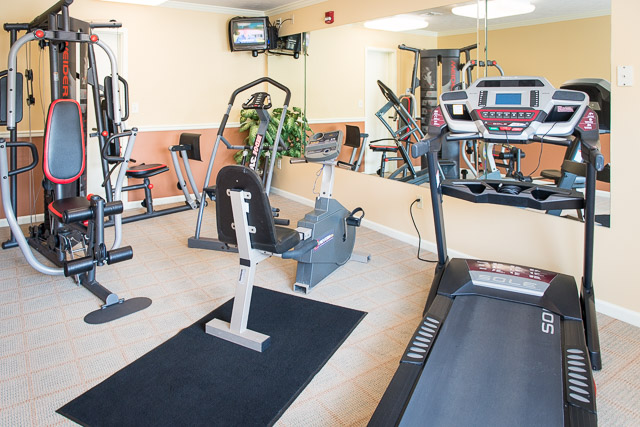 Upscale Fitness Center at Webster Woods Townhouse Apartments in Webster, New York