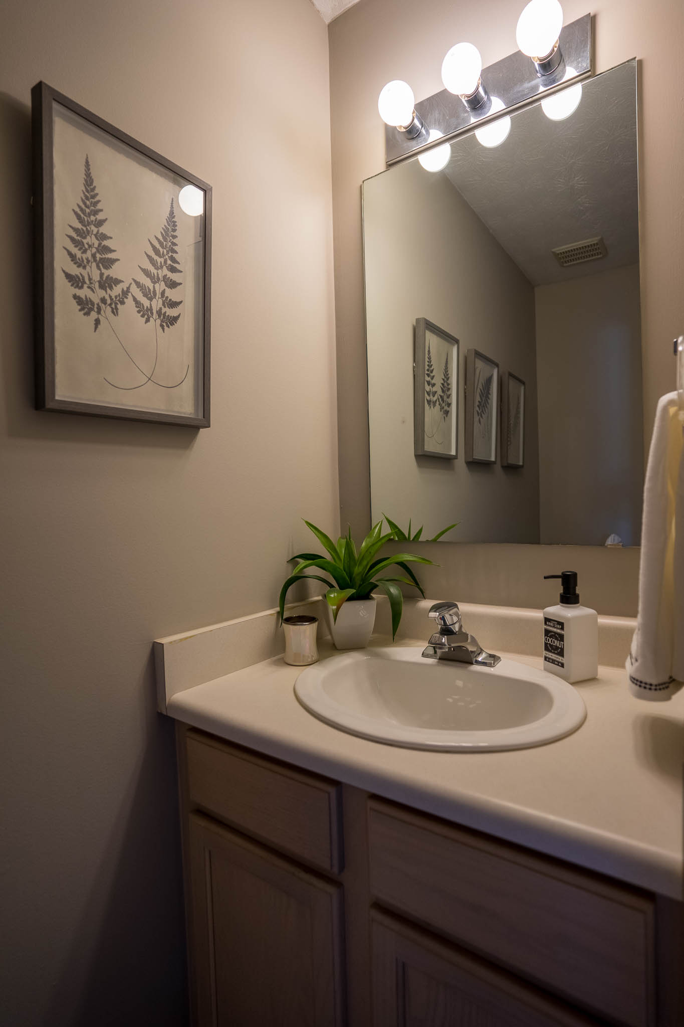 Seconded Bathroom at Webster Woods Townhouse Apartments in Webster, New York