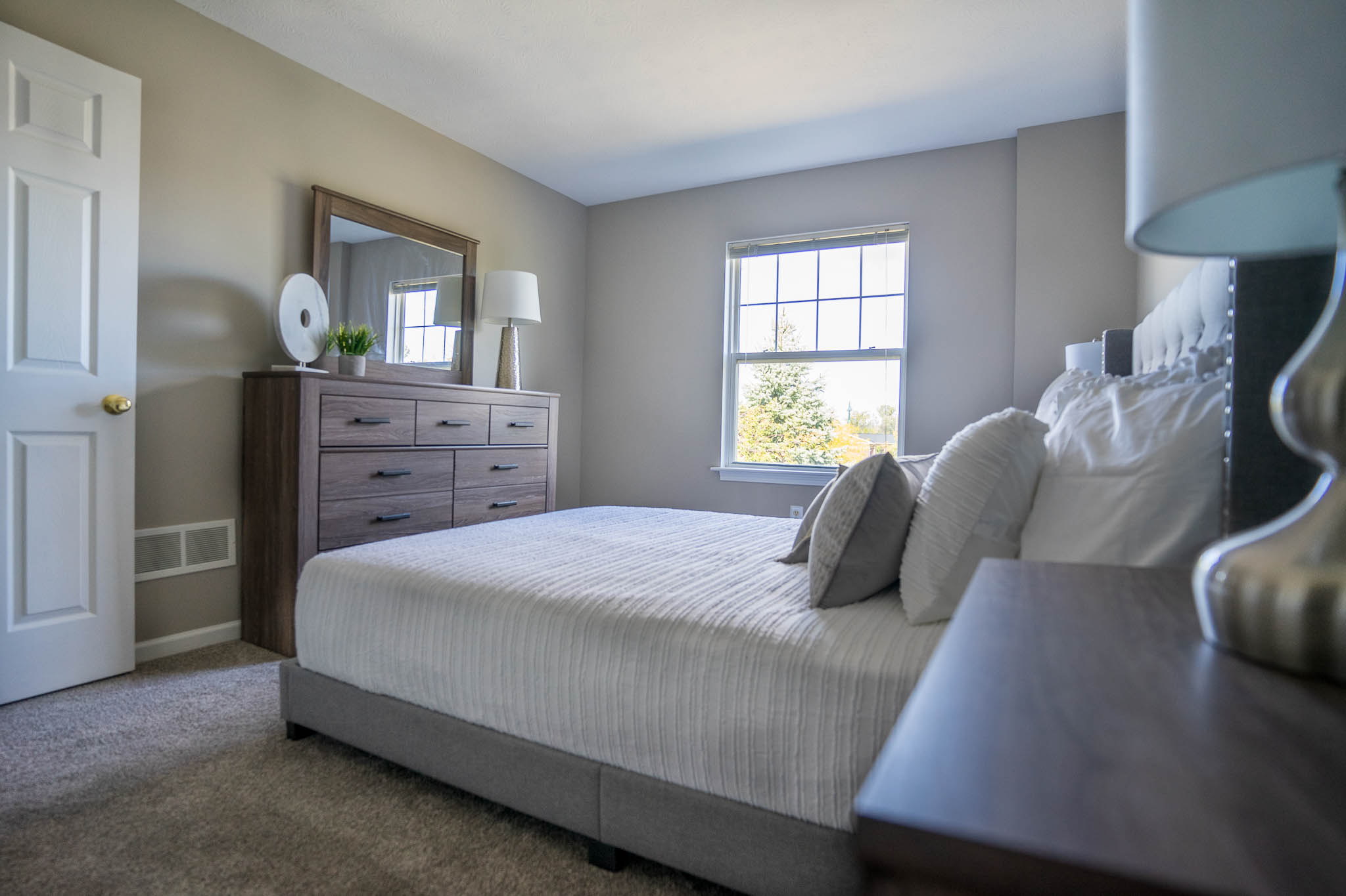 Master Bedroom at Webster Woods Townhouse Apartments in Webster, New York