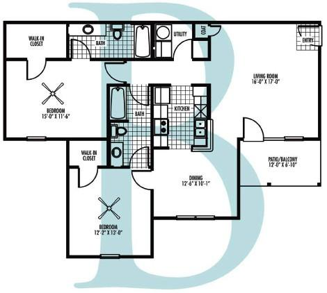 Village at Westlake Apartment Homes - Floorplan - B