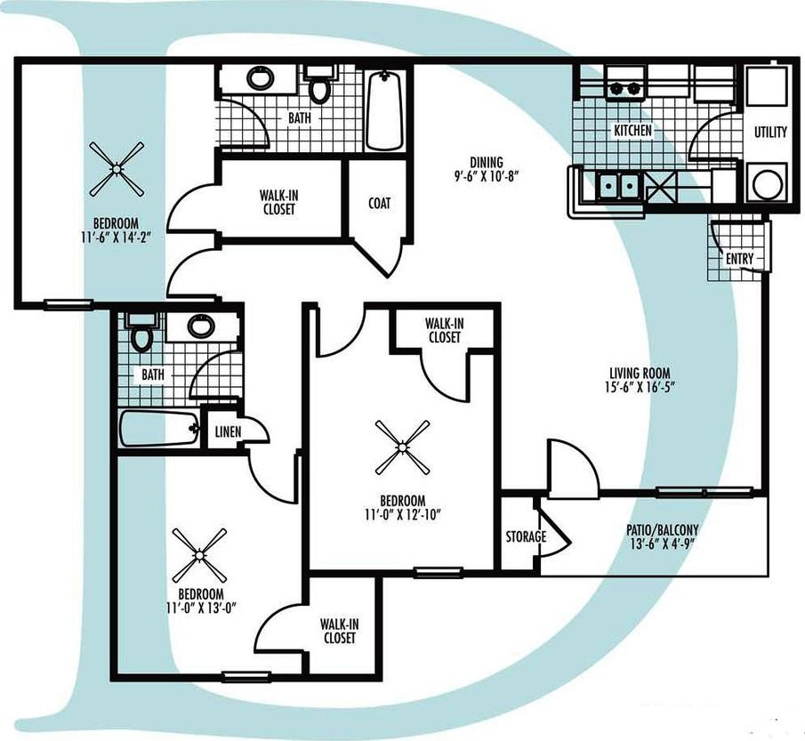 Village at Westlake Apartment Homes - Floorplan - D