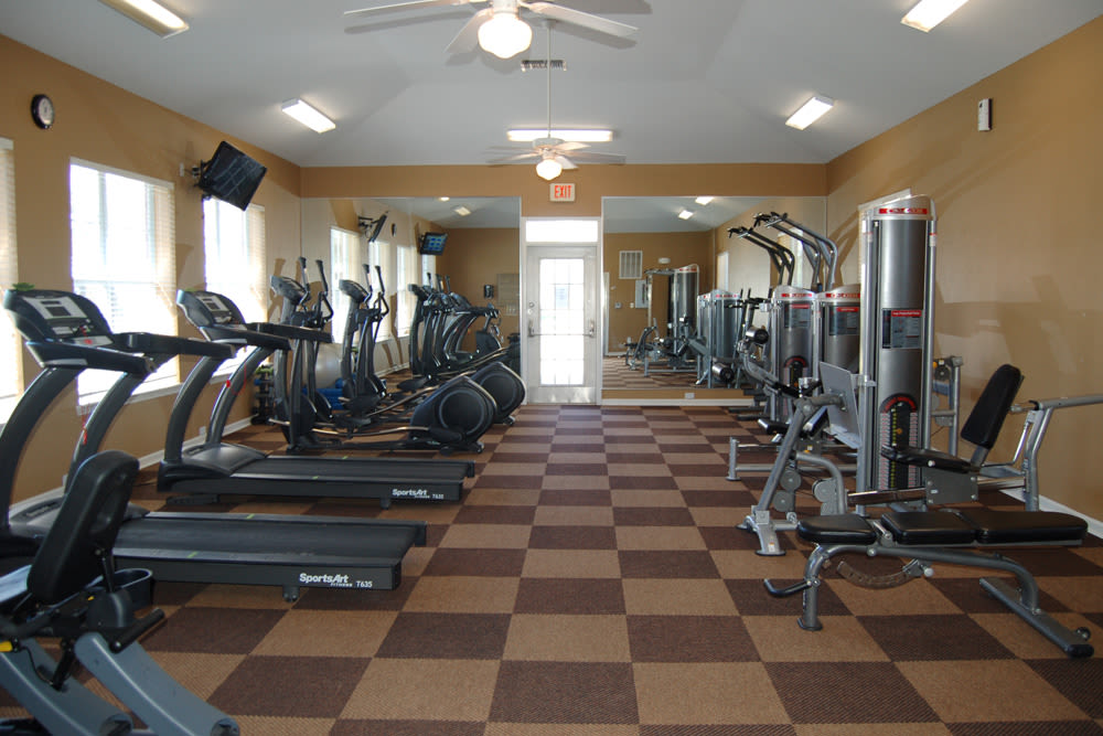 Fitness Center at Village at Westlake Apartments in Shreveport, Louisiana