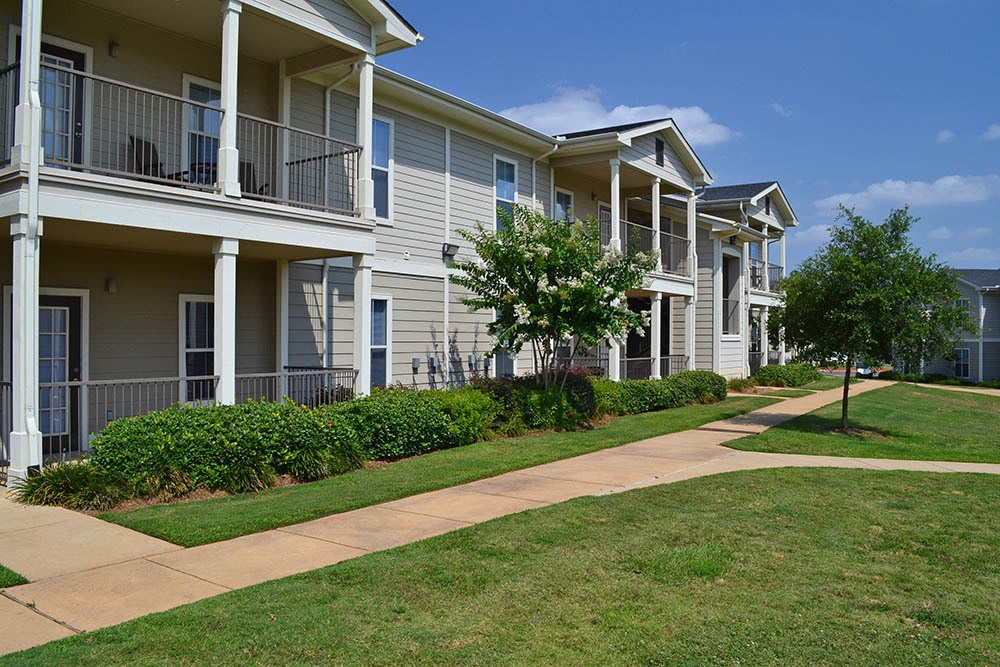 Lush Landscaping at Village at Westlake Apartments in Shreveport, Louisiana