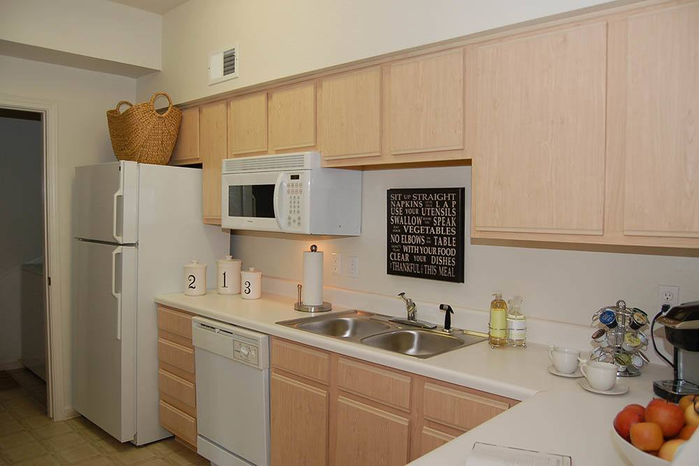 Fully Equipped Kitchen at Village at Westlake Apartments in Shreveport, Louisiana