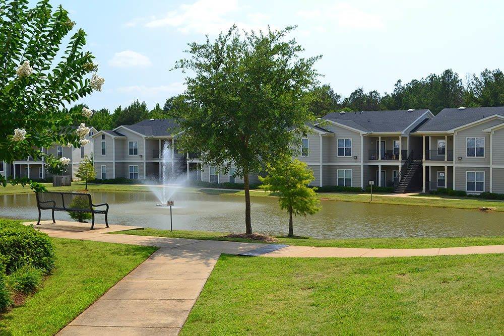 Private Lake at Village at Westlake Apartments in Shreveport, Louisiana