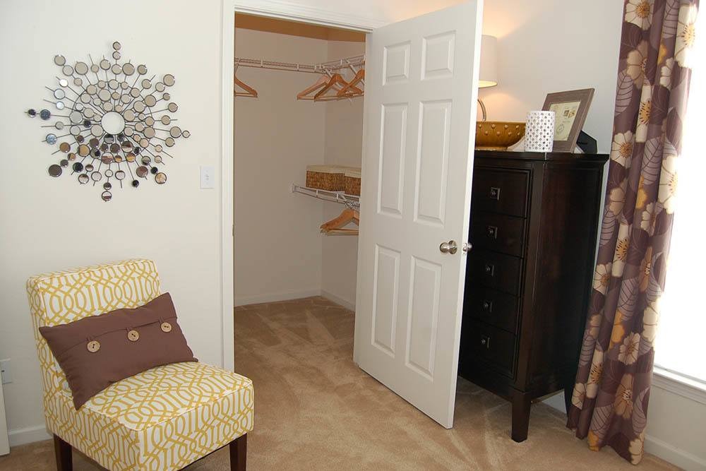 Walk-In Closets at Village at Westlake Apartments in Shreveport, Louisiana