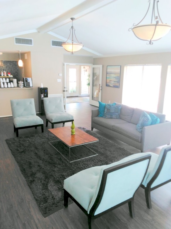 Renovated Clubhouse with Coffee Bar at Westmount at Summer Cove Apartments in Houston, TX