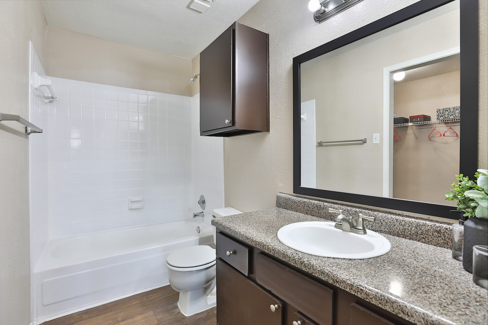 Shower and Tub at Westmount at Summer Cove Apartments in Houston, TX