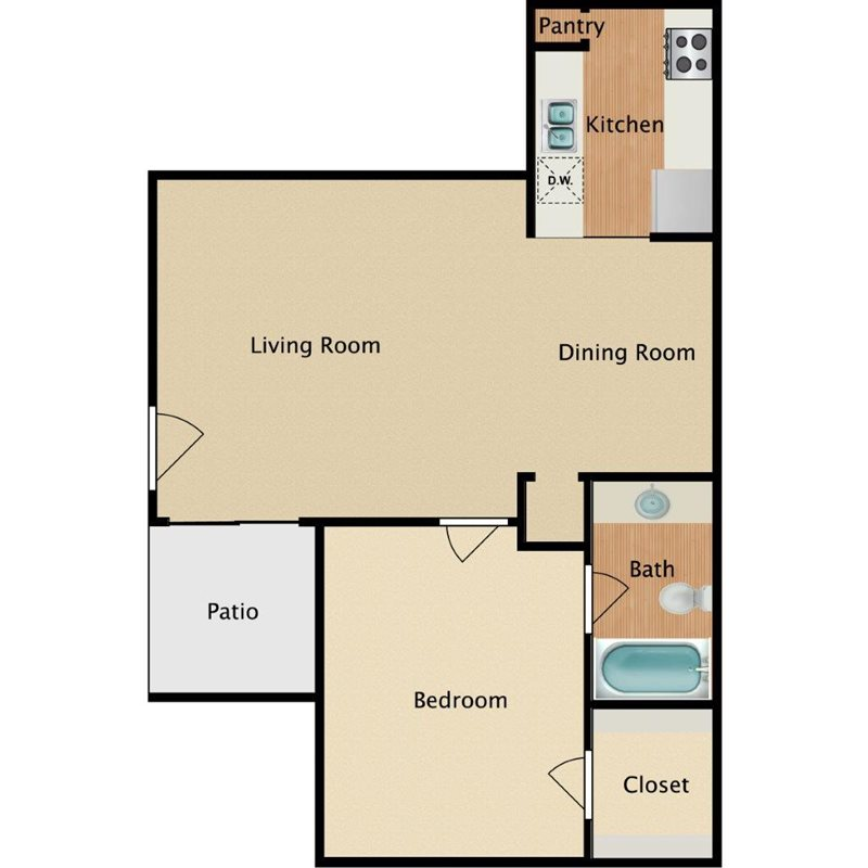 Westmount at Forest Oaks - Floorplan - A1