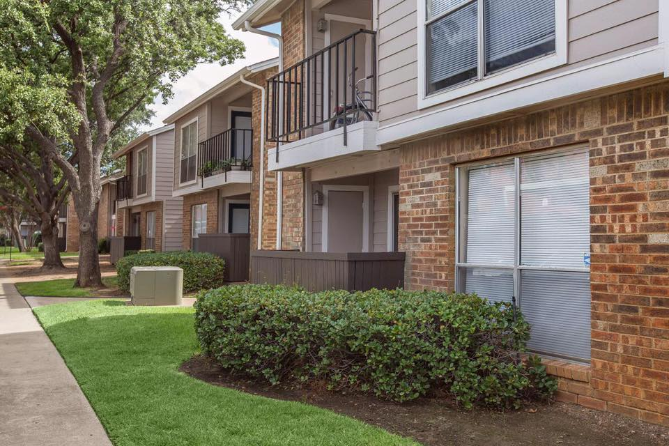Private Patio or Balcony at Westmount at Forest Oaks Apartments in Arlington, TX
