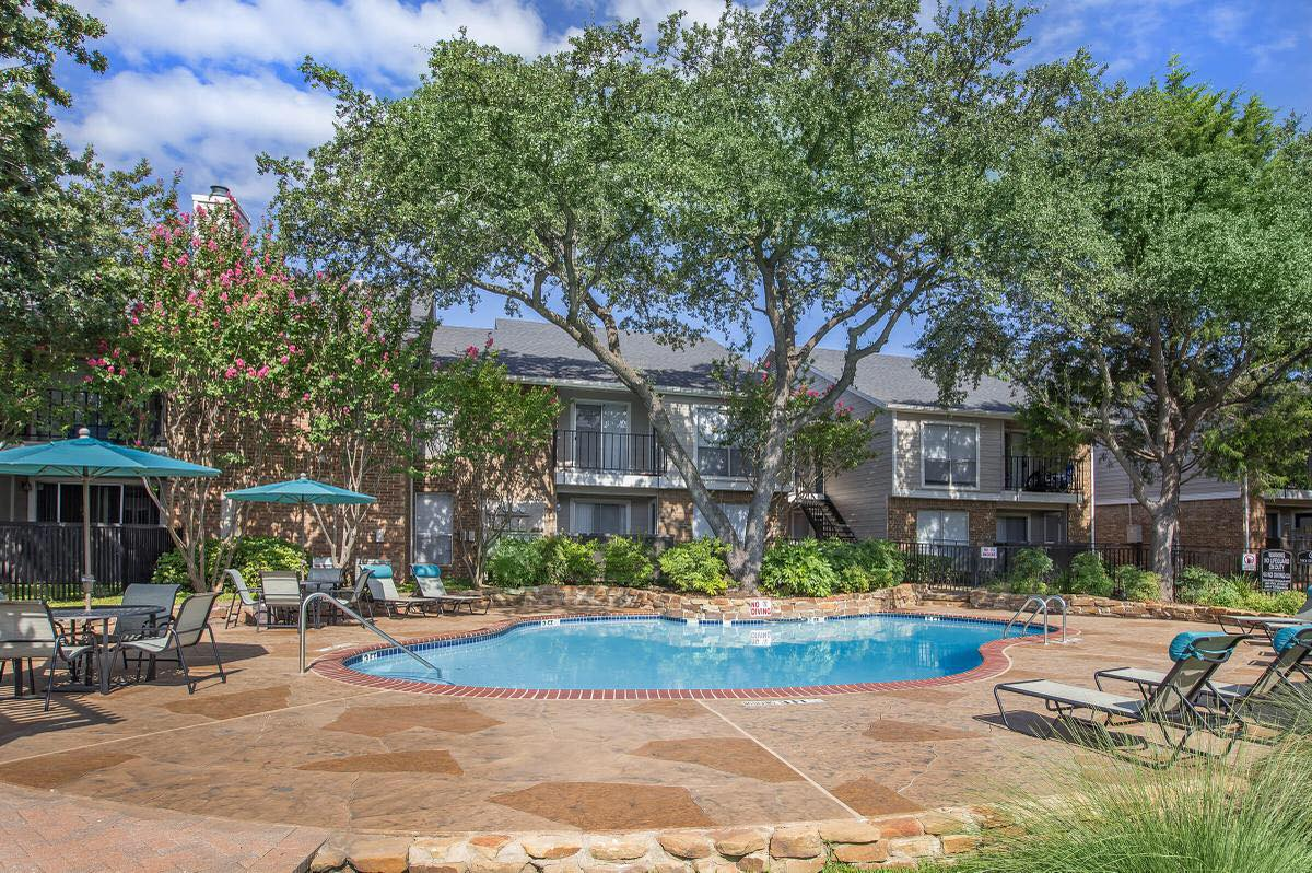 Pool with Sun Deck at Westmount at Forest Oaks Apartments in Arlington, TX