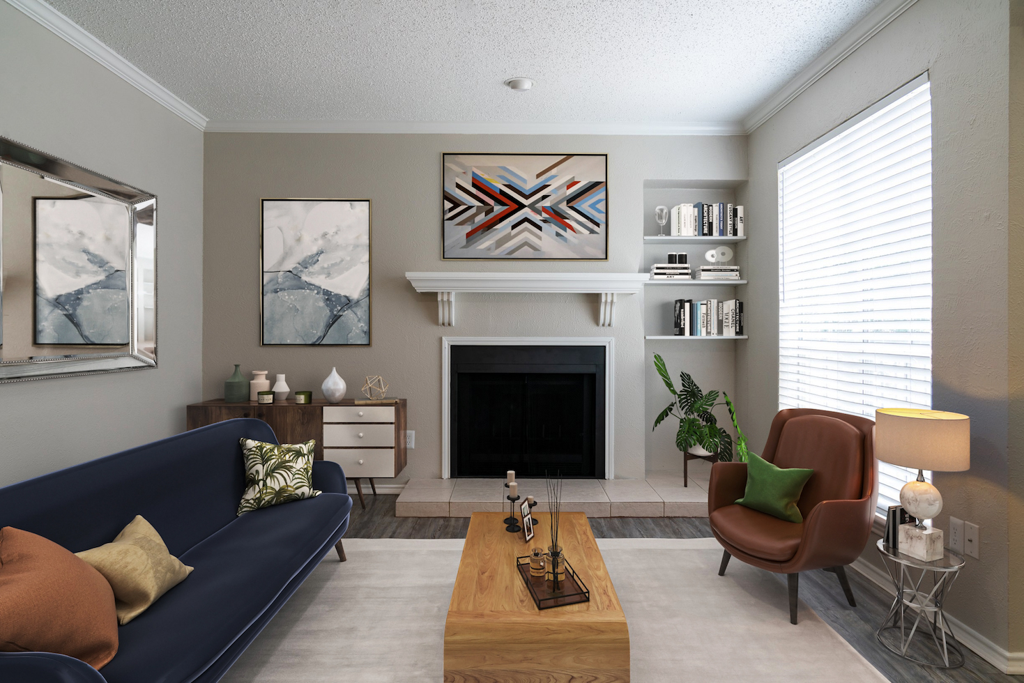 Spacious Living Room at Westmount at River Park Apartments in Fort Worth, TX