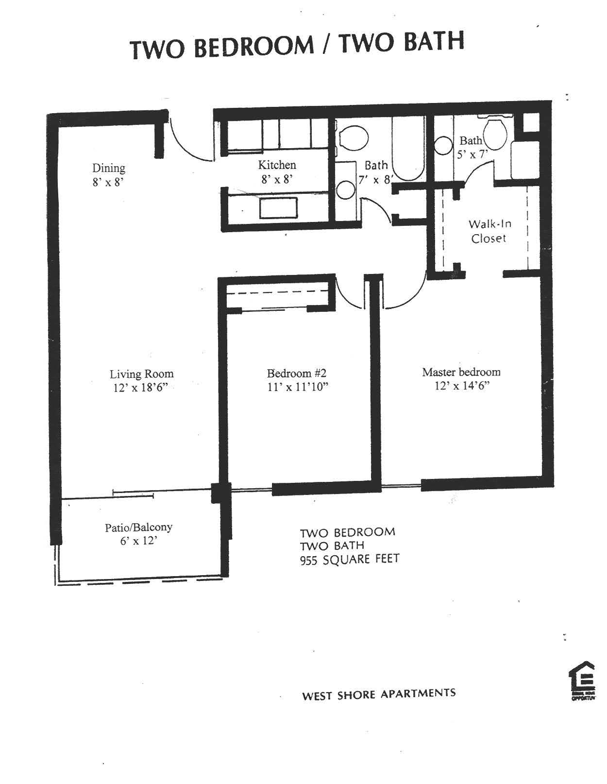 WestShore Apartments/Embassy Apartments - Floorplan - Westshore C2.2 - None Available