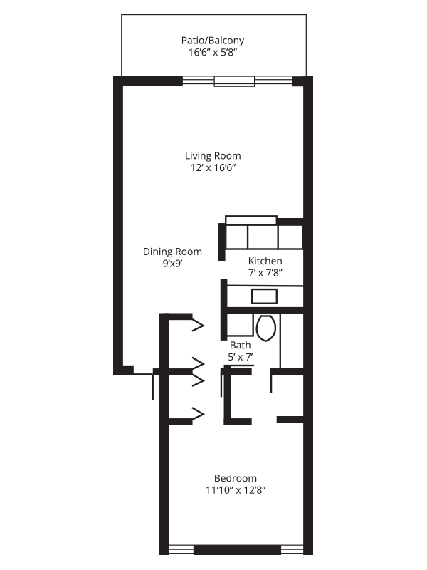 WestShore Apartments/Embassy Apartments - Floorplan - Westshore B1
