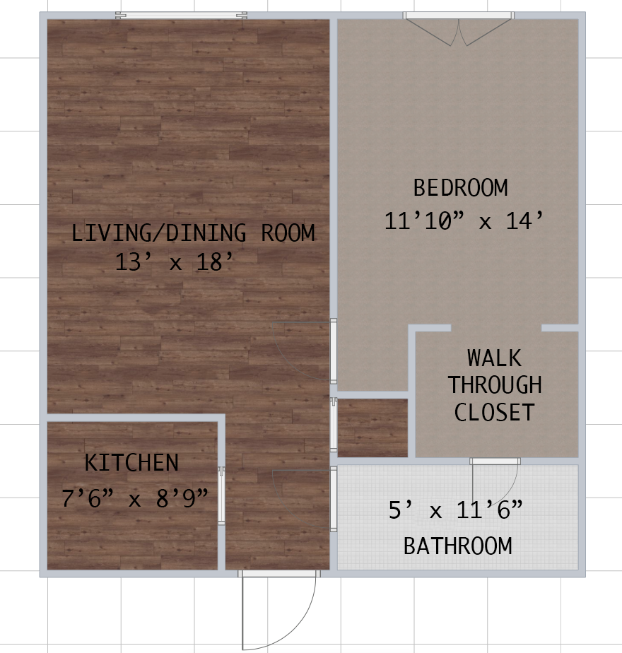 Floorplan - EMBASSY 1  Located at Embassy Apartment image