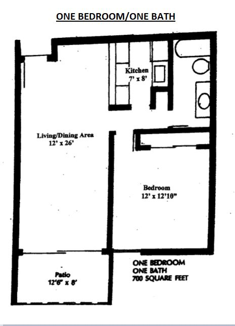 WestShore Apartments/Embassy Apartments - Floorplan - Westshore A1