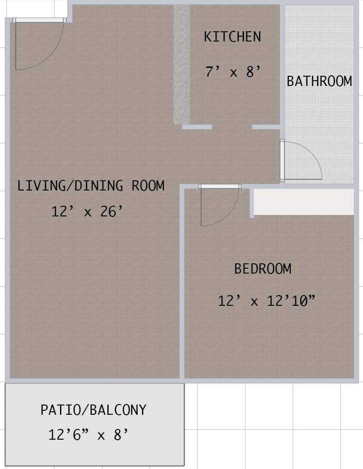 Floorplan - Westshore A1 image