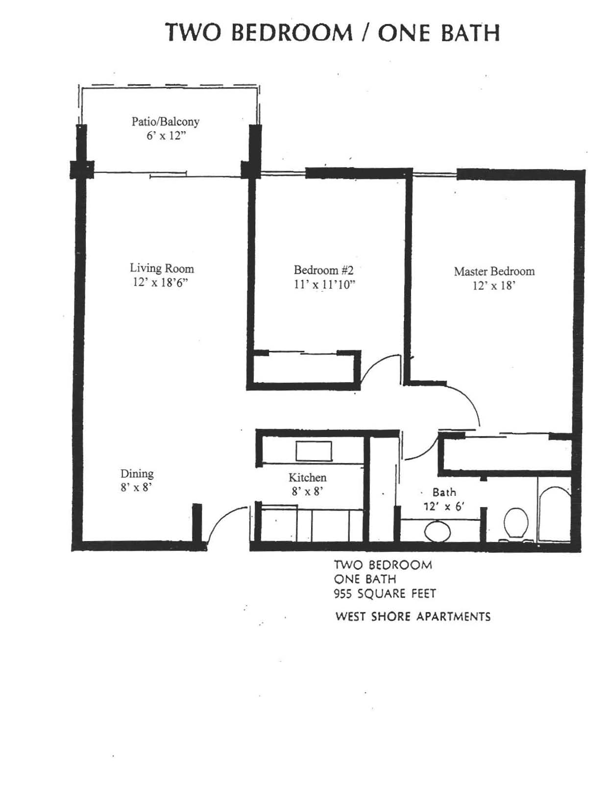 WestShore Apartments/Embassy Apartments - Floorplan - Westshore C2.1