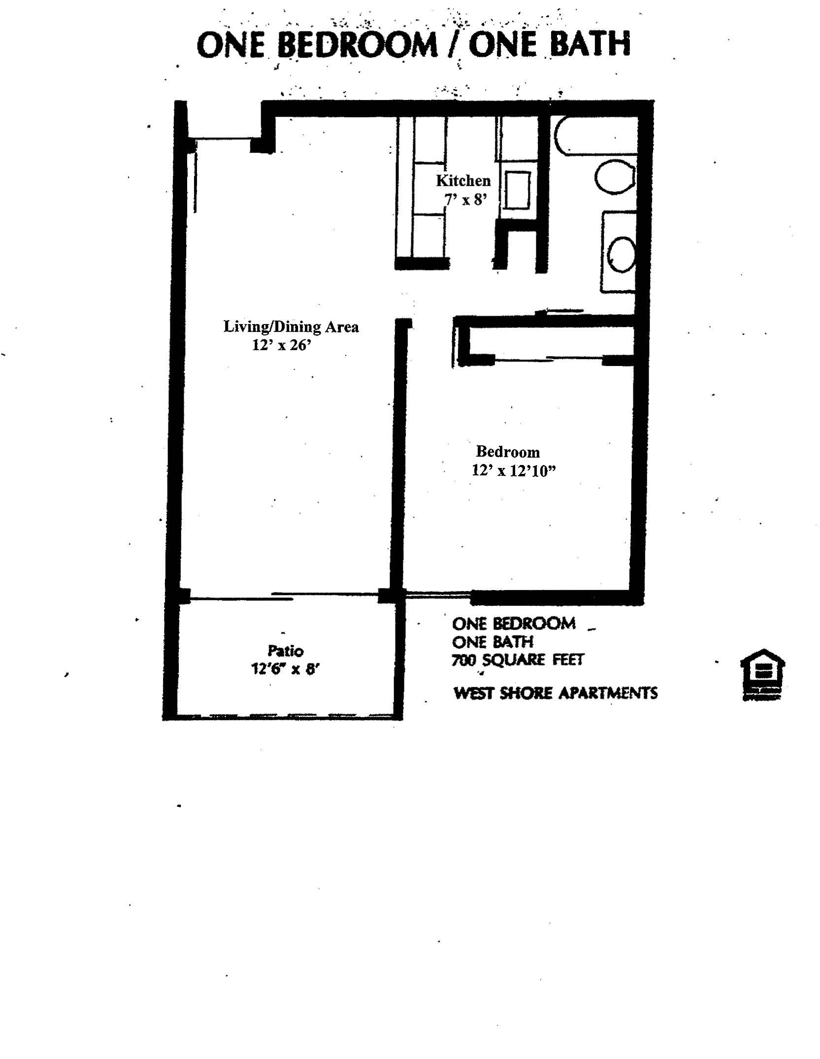 WestShore Apartments/Embassy Apartments   Floorplan   Westshore A1   None  Available