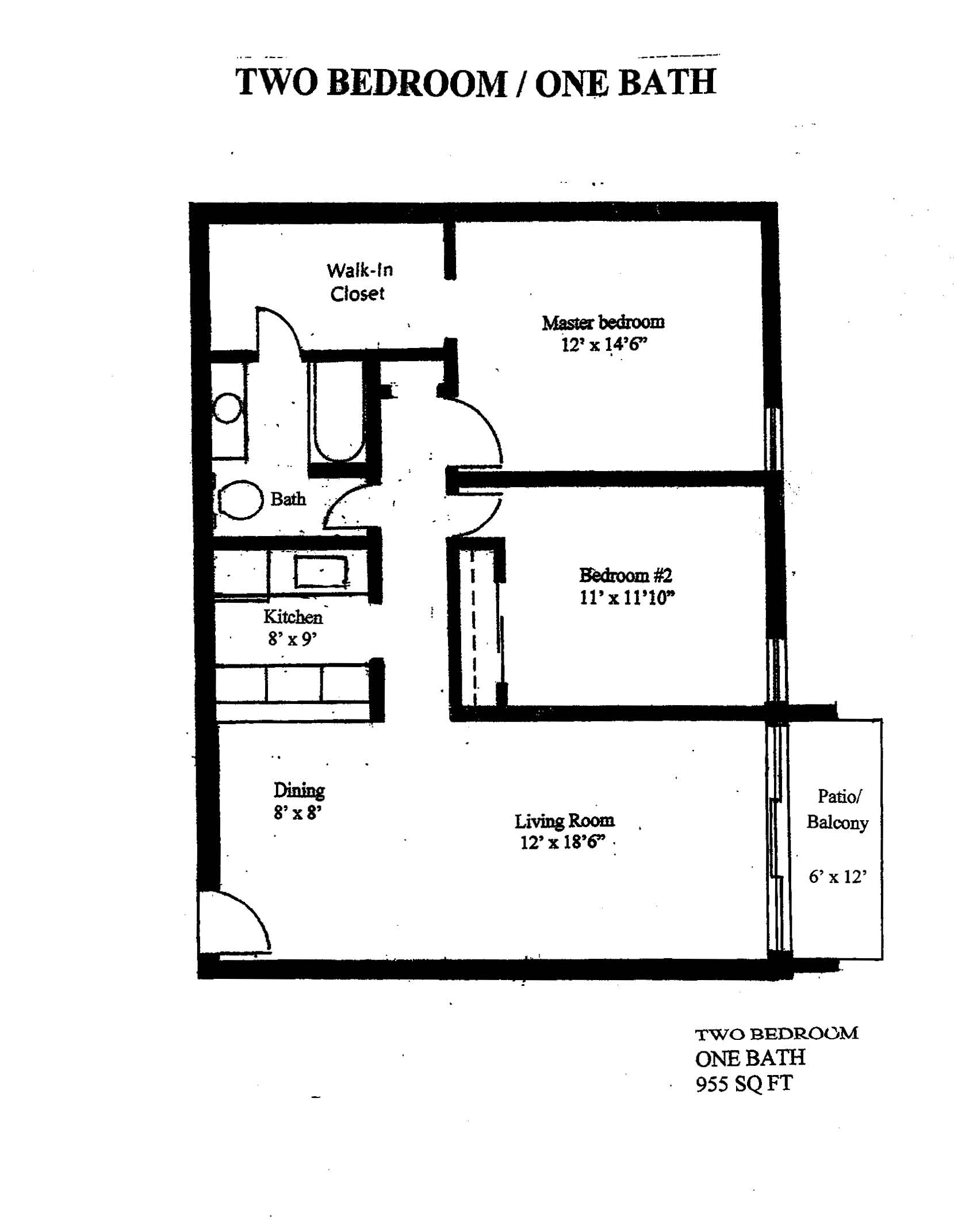 WestShore Apartments/Embassy Apartments - Floorplan - Westshore A2.1