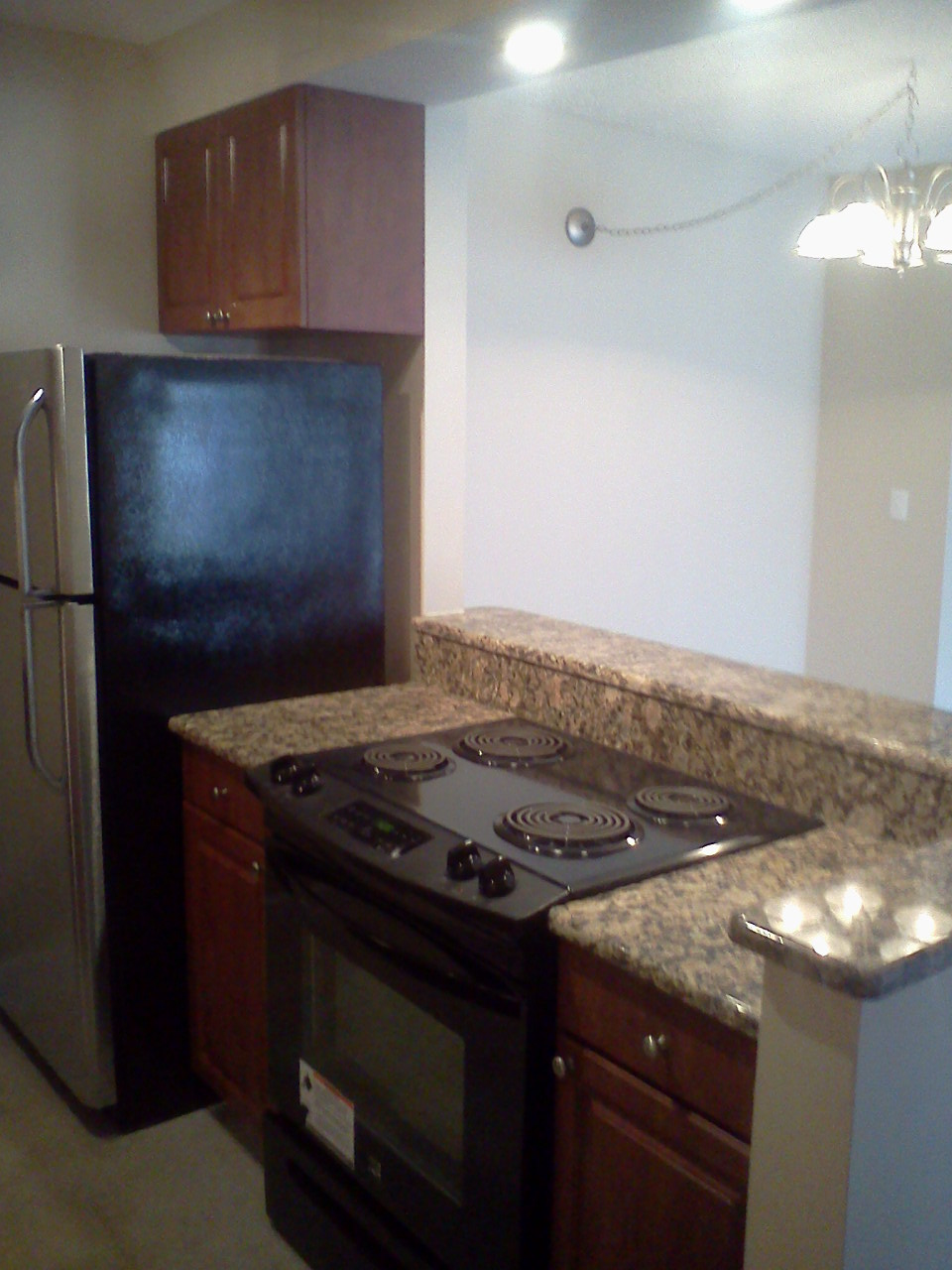 Kitchen at the WestShore Apartments in Tampa, FL