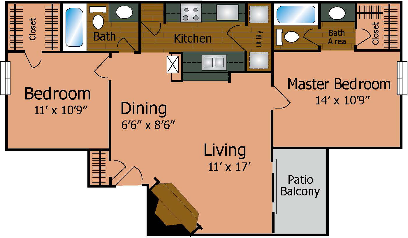 Westwind Apartment Homes - Floorplan - The Regency