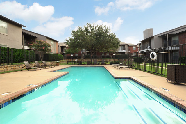Outdoor Swimming Pool at Westwind Apartments in Denton, TX