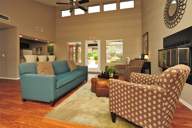 Community Clubhouse at Westwind Apartments in Denton, TX