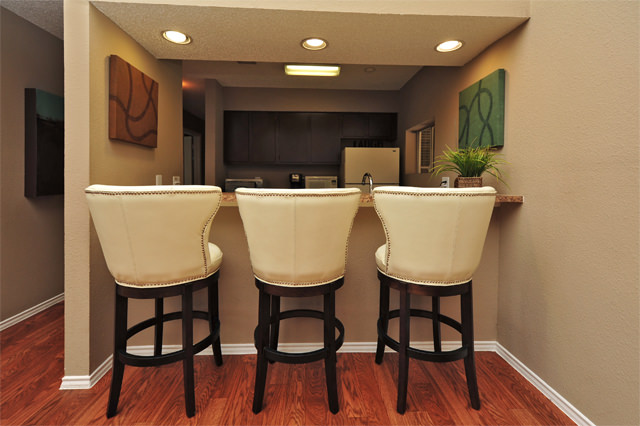 Breakfast Bar with Seating at Westwind Apartments in Denton, TX