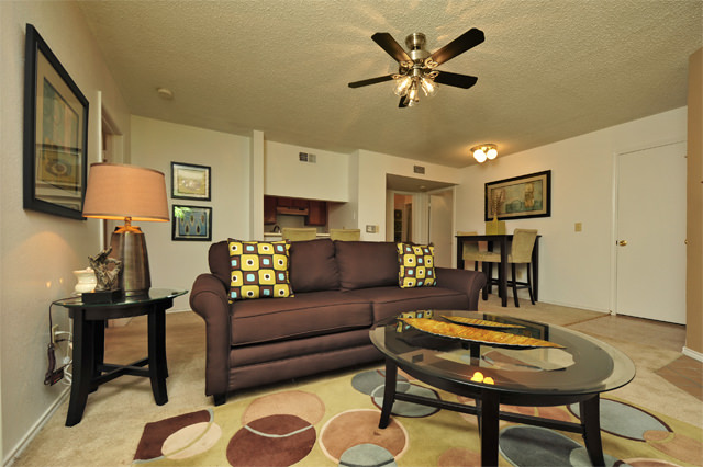 Spacious Living Rooms at Westwind Apartments in Denton, TX