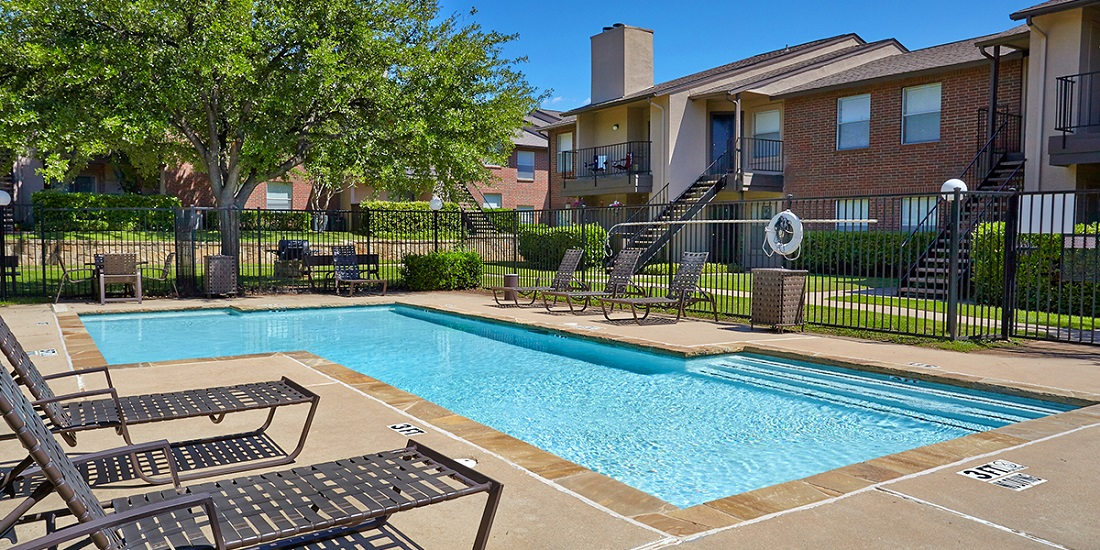 Sparkling Swimming Pool at Westwind Apartments in Denton, TX