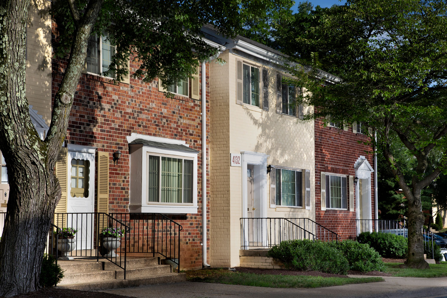 Two-level townhomes at Whitehall Square Apartments in Suitland, MD
