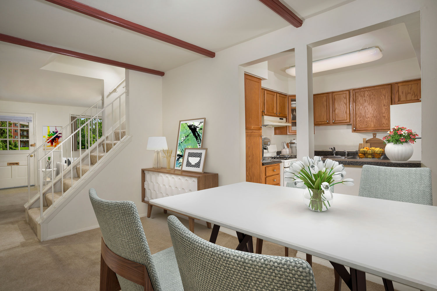 Spacious 2-story townhouse at Whitehall Square Apartments in Suitland, MD