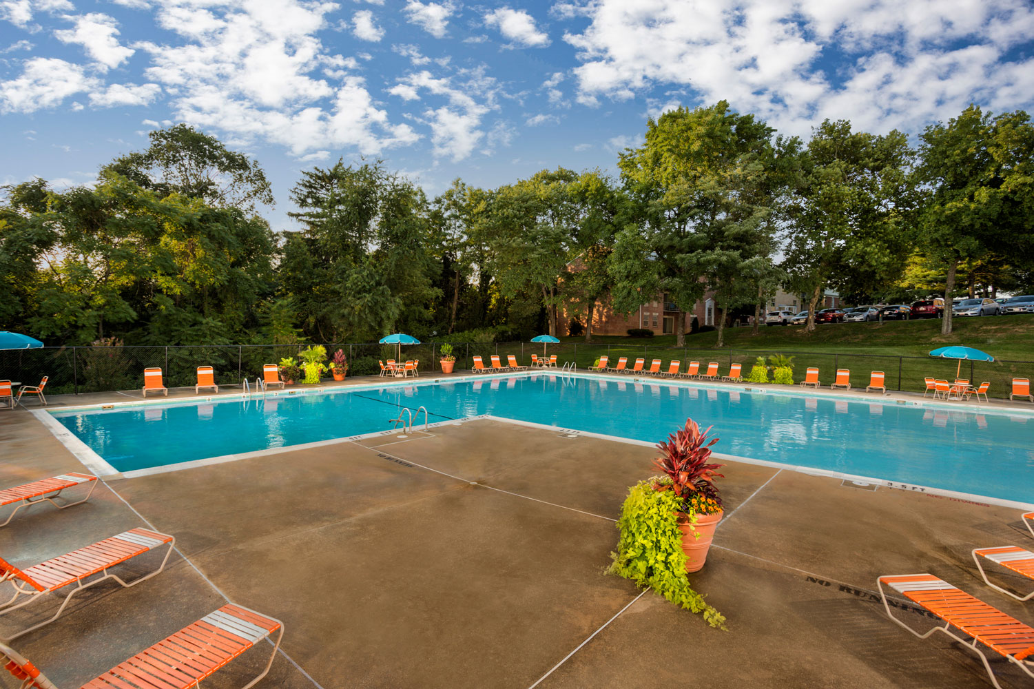 Relaxing sundeck at Whitehall Square Apartments in Suitland, MD