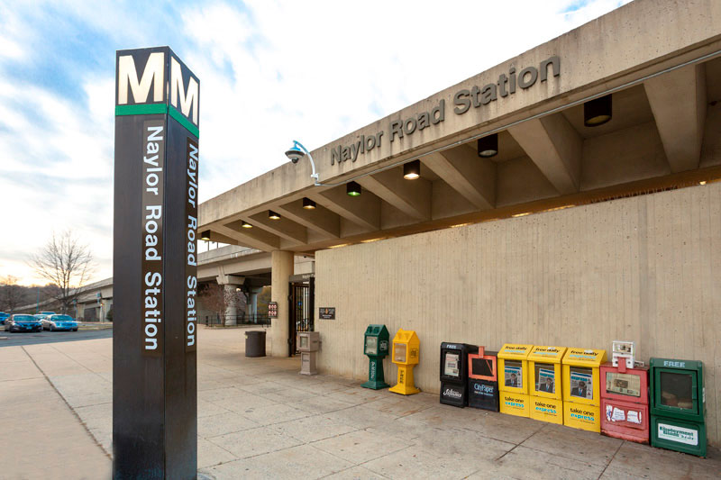 Naylor Road Metro Station is 5 minutes from Whitehall Square Apartments in Suitland, MD