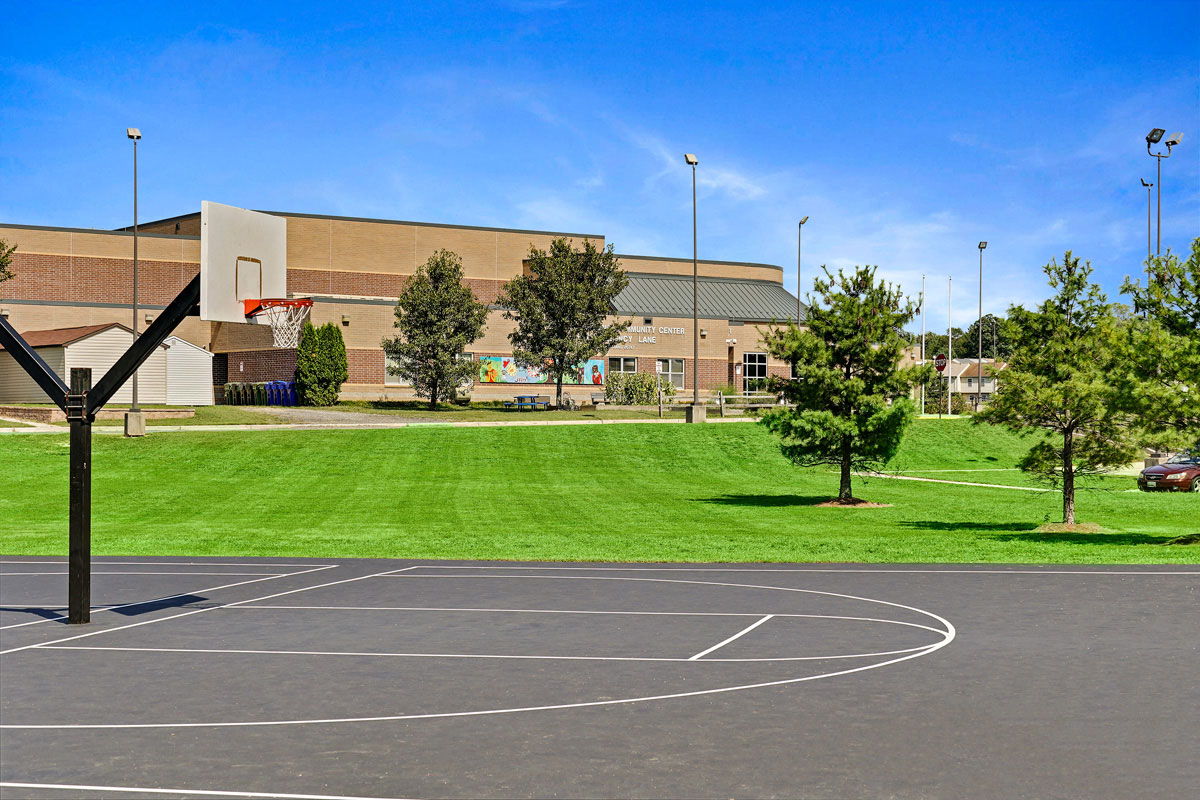 5 minutes to basketball court at the Suitland Community Center in Suitland, MD