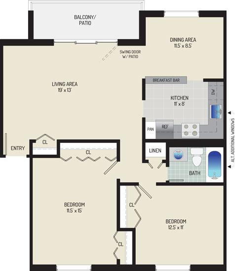 Whitehall Square Apartments - Apartment 054120-202-N1