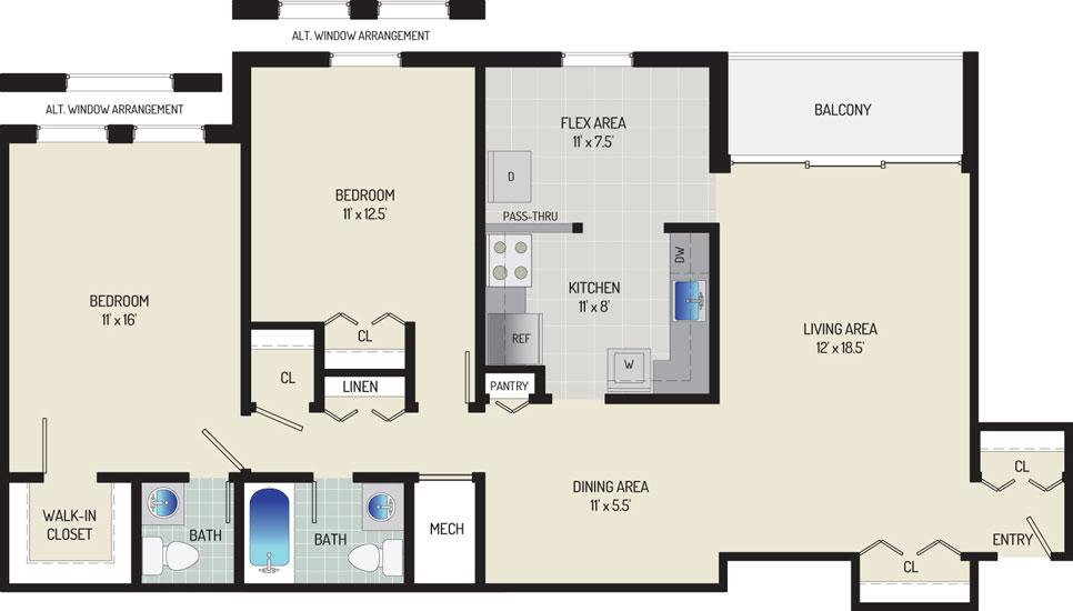 Whitehall Square Apartments - Apartment 054240-302-U