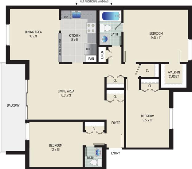 Whitehall Square Apartments - Apartment 054168-402-Y1