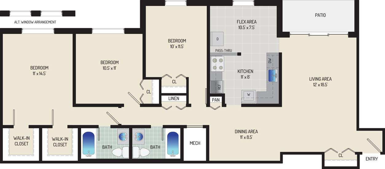 Whitehall Square Apartments - Apartment 054250-102-ZB